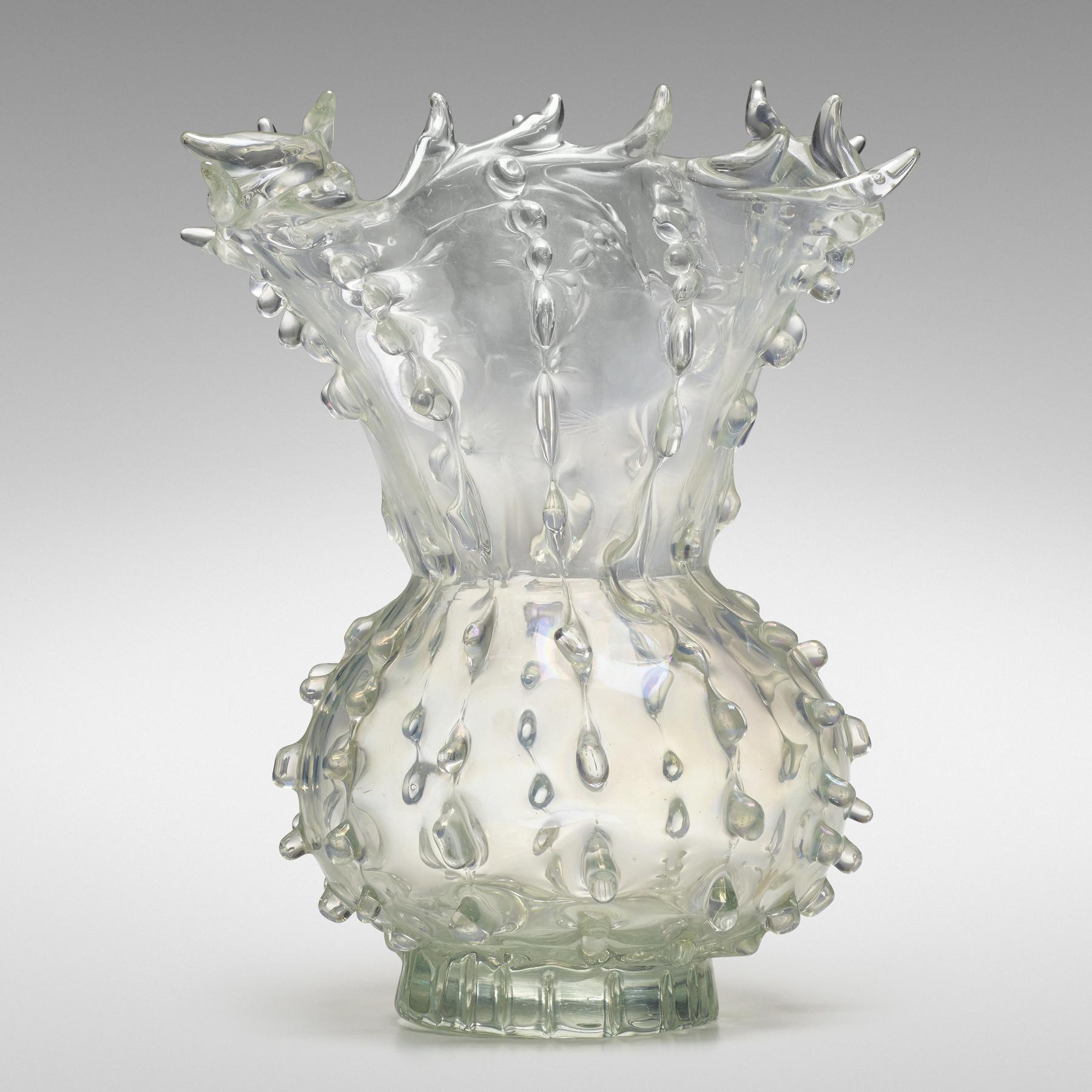 161 1 Important Italian Glass April 2020 Ercole Barovier Medusa Vase Wright Auction