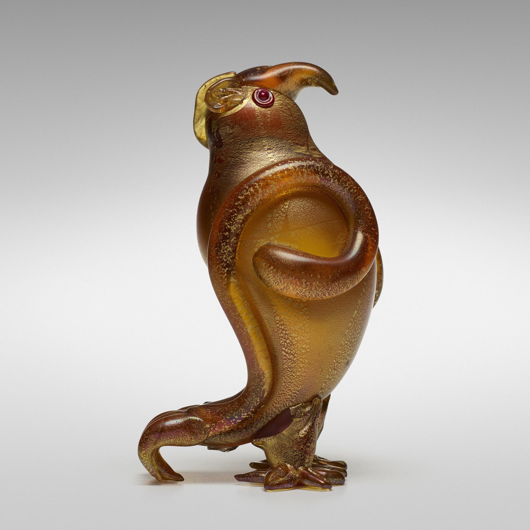 171 1 Important Italian Glass April 2020 Carlo Scarpa Owl Model 4757 Wright Auction