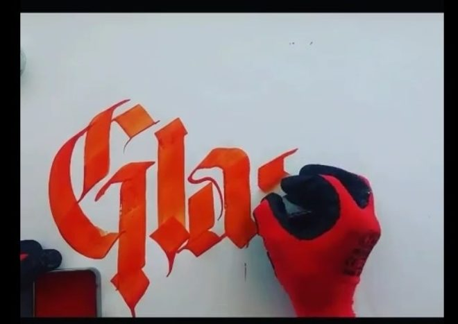 Glass Calligraphy2