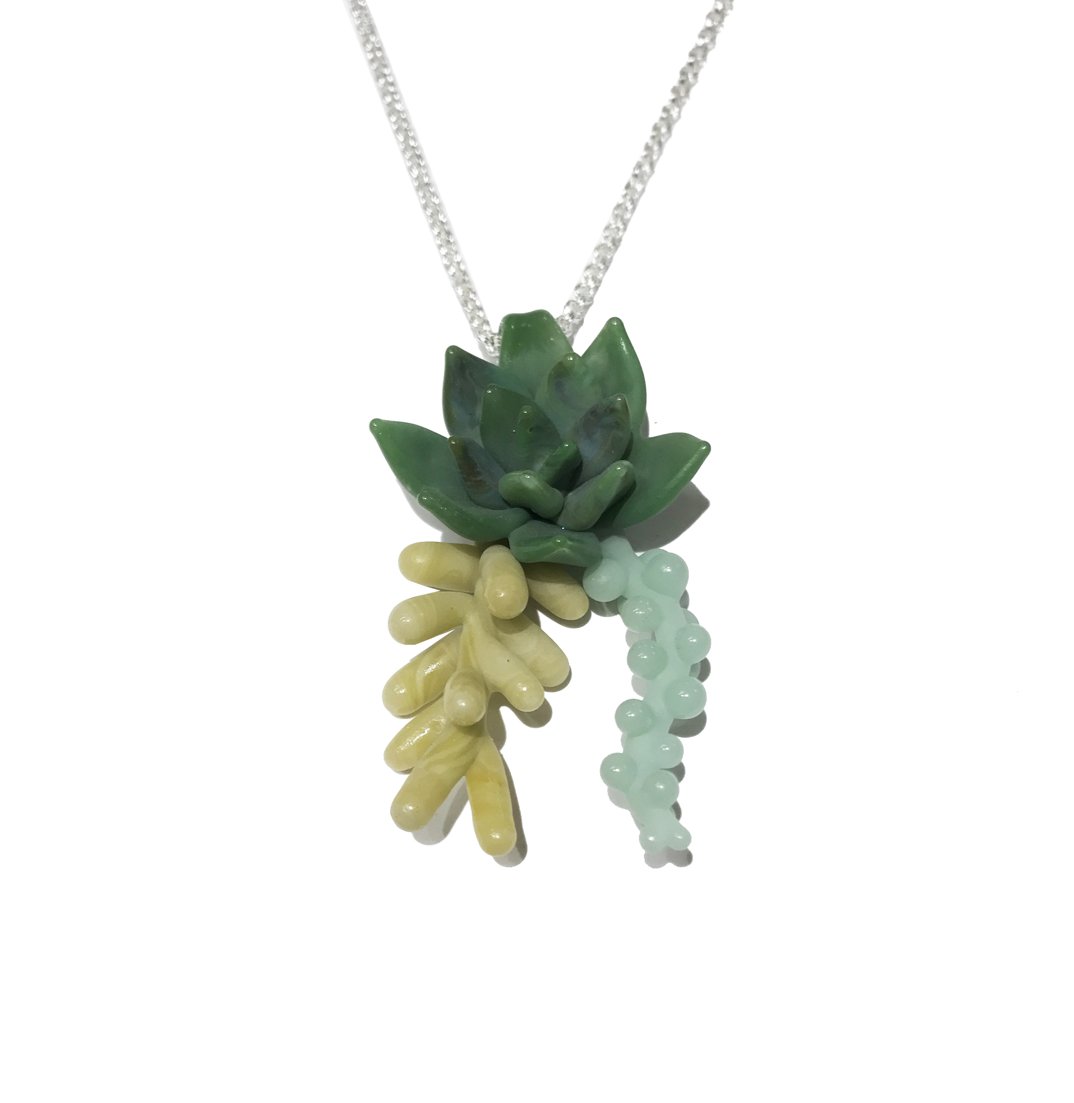 Nature Bone Studio's Succulent Jewelry