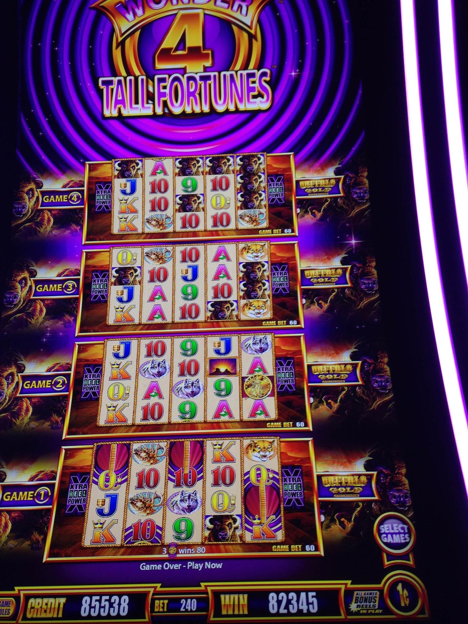 Wonder 4 Tall Fortune Slot Machine By Aristocrat