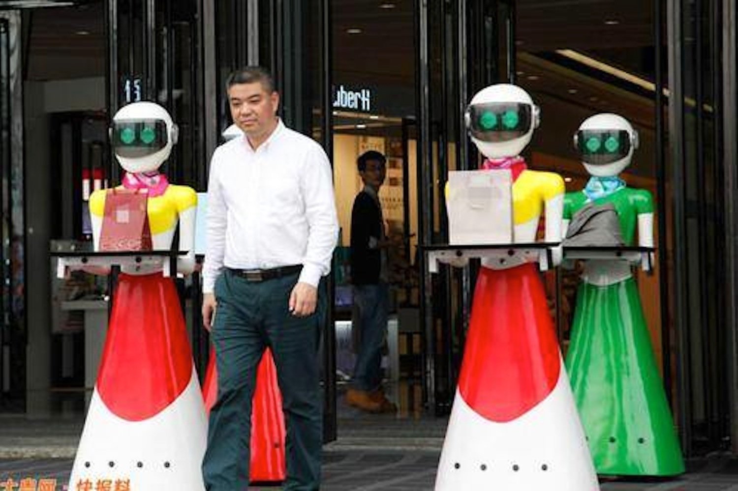 This Man Is So Rich That He Went Shopping With 8 Robotic Maids