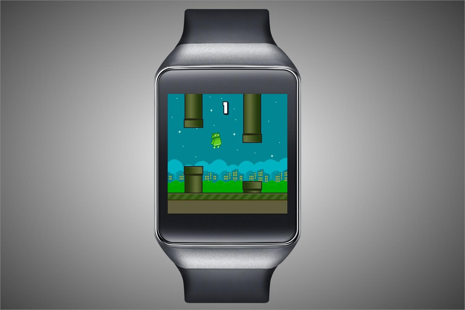 Flappy Bird Clone First Game on Android Wear