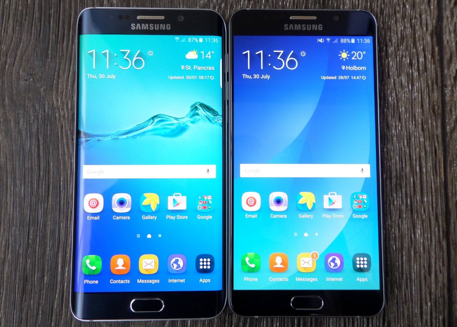 samsung galaxy s6 edge vs note 4