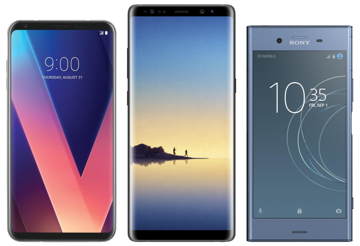 LG V30, Samsung Galaxy Note 8 and Sony Xperia XZ1_real size comparison.png