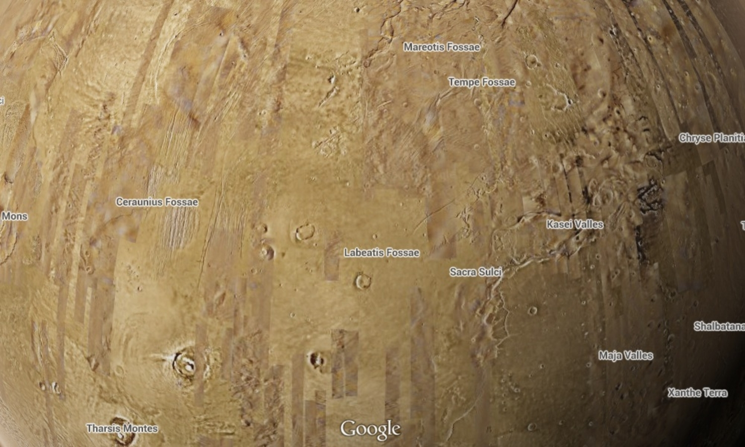 Explore mars And The Moon On Google maps With These Secret Steps