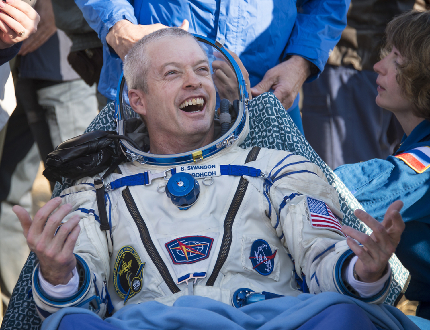 NASA Astronaut Steve Swanson Comes Back To Earth