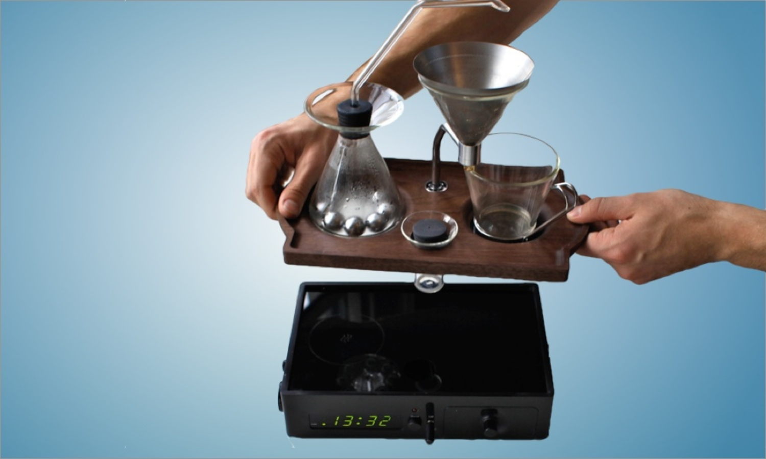 This Alarm Clock Wakes You Up With Freshly Brewed Coffee