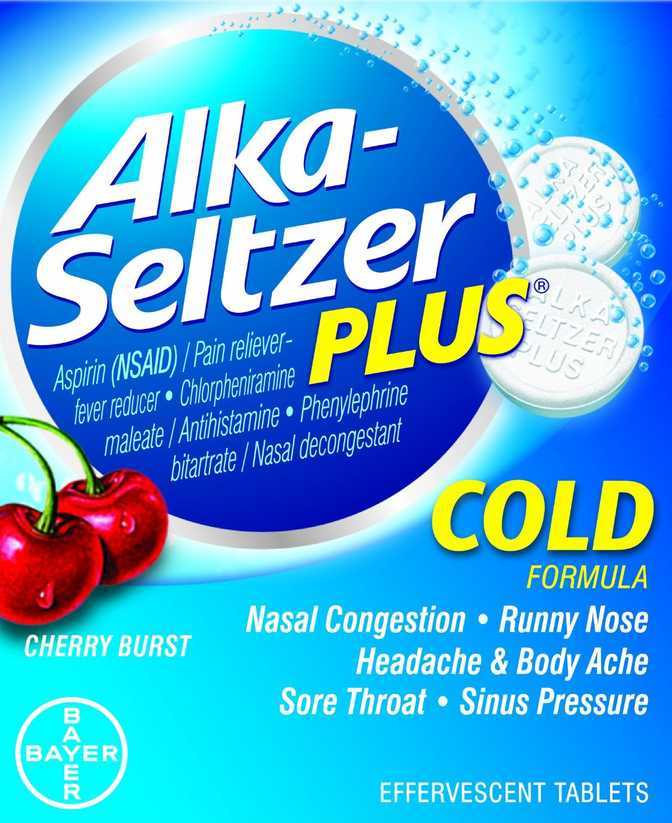 Alka-Seltzer Plus Cold Cherry Burst