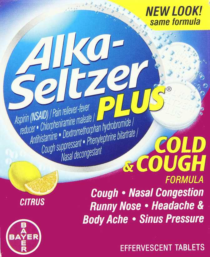 Alka-Seltzer Plus Cold & Cough