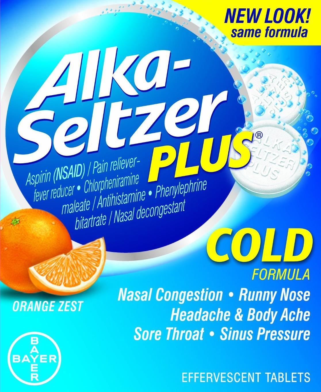 Alka-Seltzer Plus Cold Orange Zest