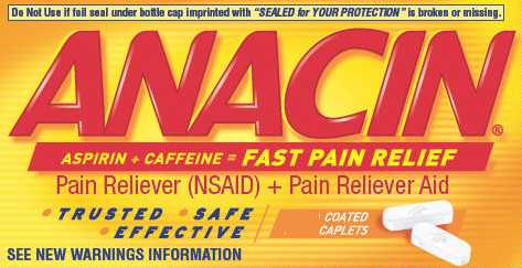 Anacin Regular Strength Caplets