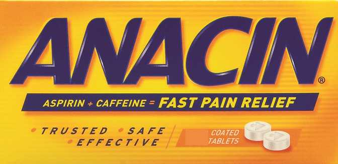 Anacin Regular Strength Tablets