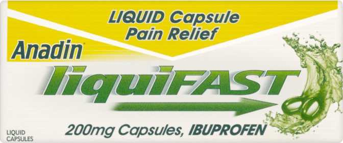 Anadin LiquiFast Capsules 200mg