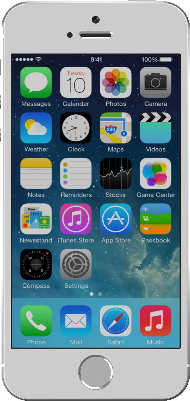 Apple iPhone 5S Silber