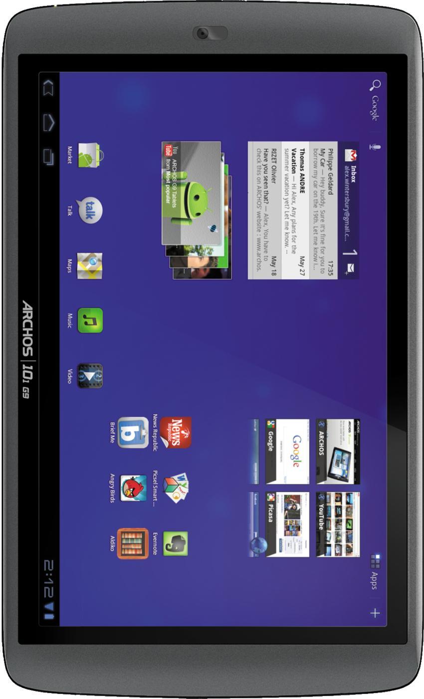 Archos 101 G9 HDD 8GB turbo version