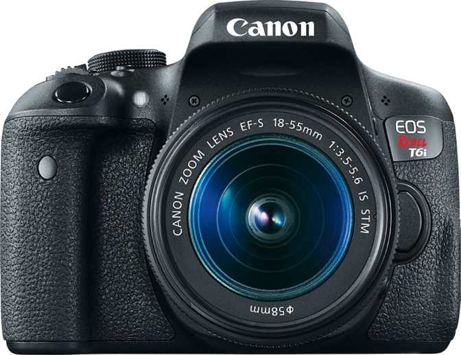 Canon EOS Rebel T6i + Canon EF-S 18-55mm F/3.5-5.6 IS STM