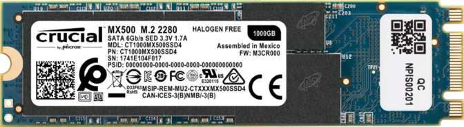 Crucial MX500 M.2 2280 1TB