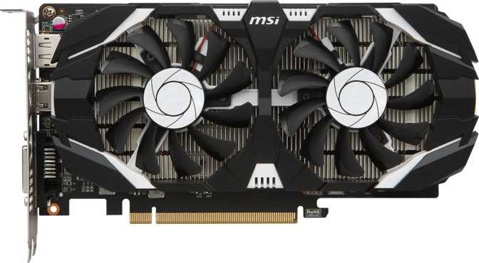 MSI GeForce GTX 1050 Ti OC 4GT