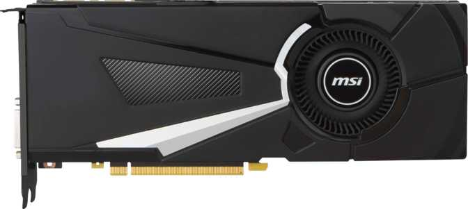 MSI GeForce GTX 1080 Aero