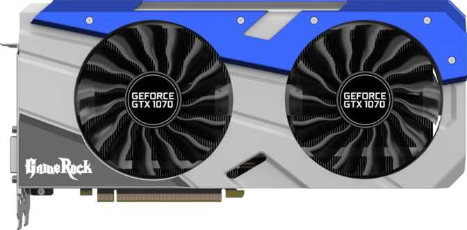 ≫ Palit GeForce GTX 1070 GameRock vs Palit GeForce GTX 1070