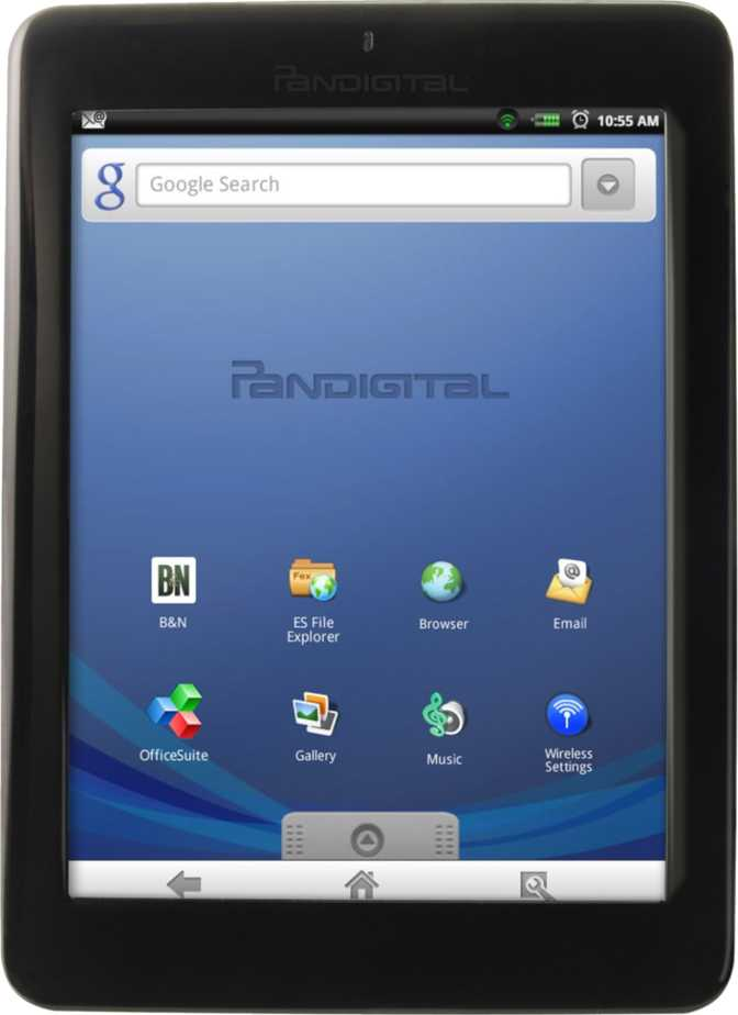 "Pandigital Novel 7"" Color Multimedia PRD7T40WBL1"