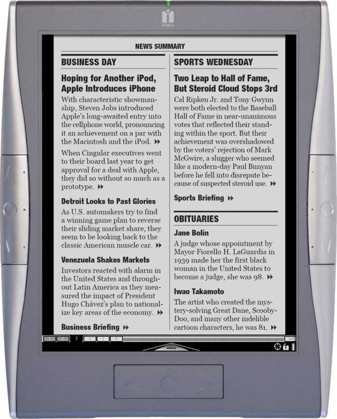 Irex technologies Digital Reader 1000