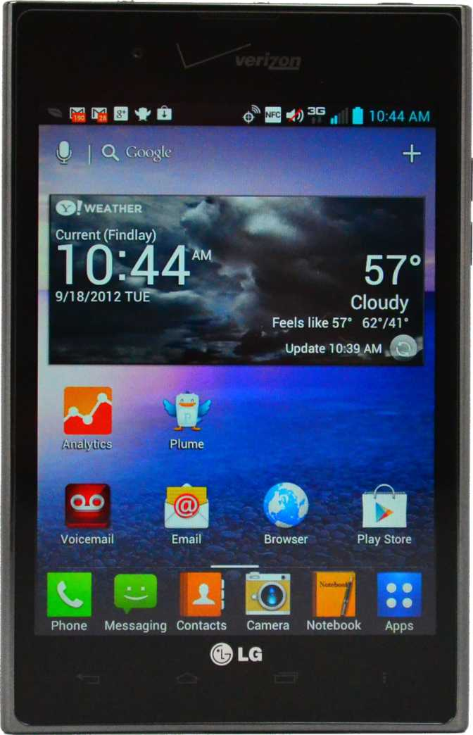 LG Optimus Vu Verizon