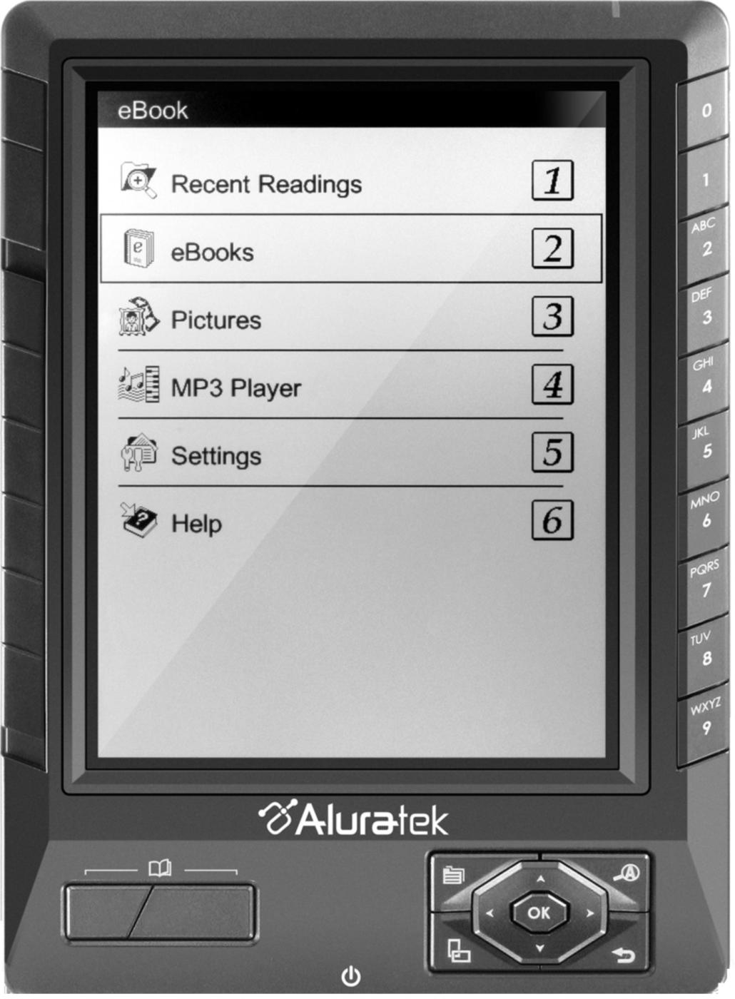 Aluratek LIBRE PRO eBook with 2GB SD Card