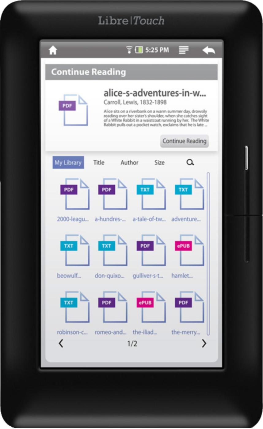 Aluratek LIBRE Touch eBook Reader WiFi