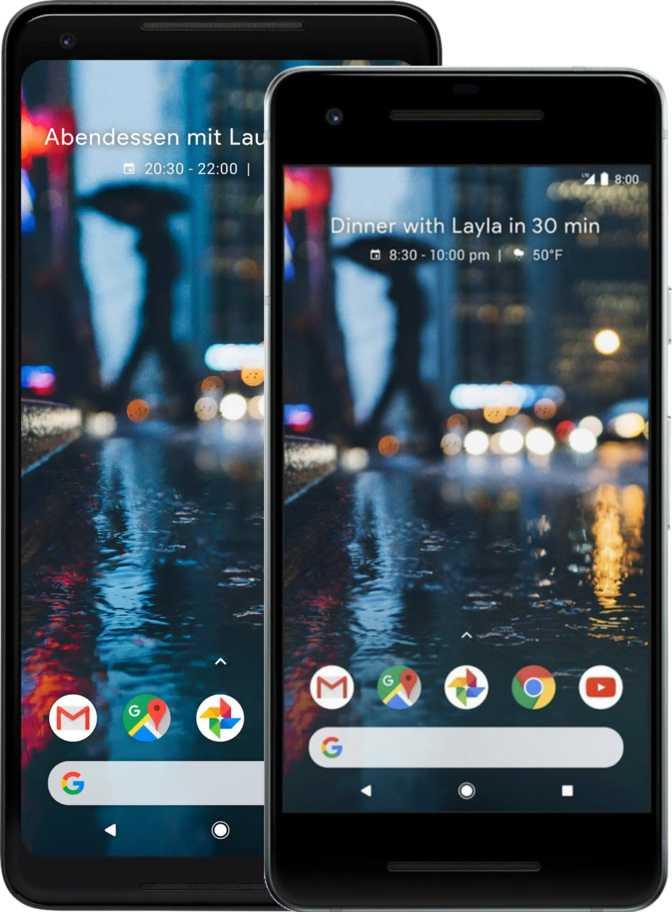 Google Pixel 2 und Google Pixel 2 XL