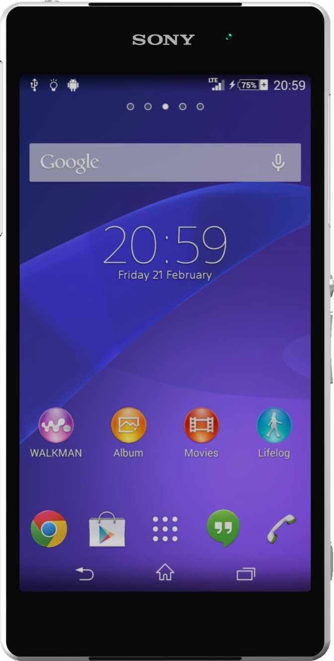 Sony Xperia Z2 Hvid