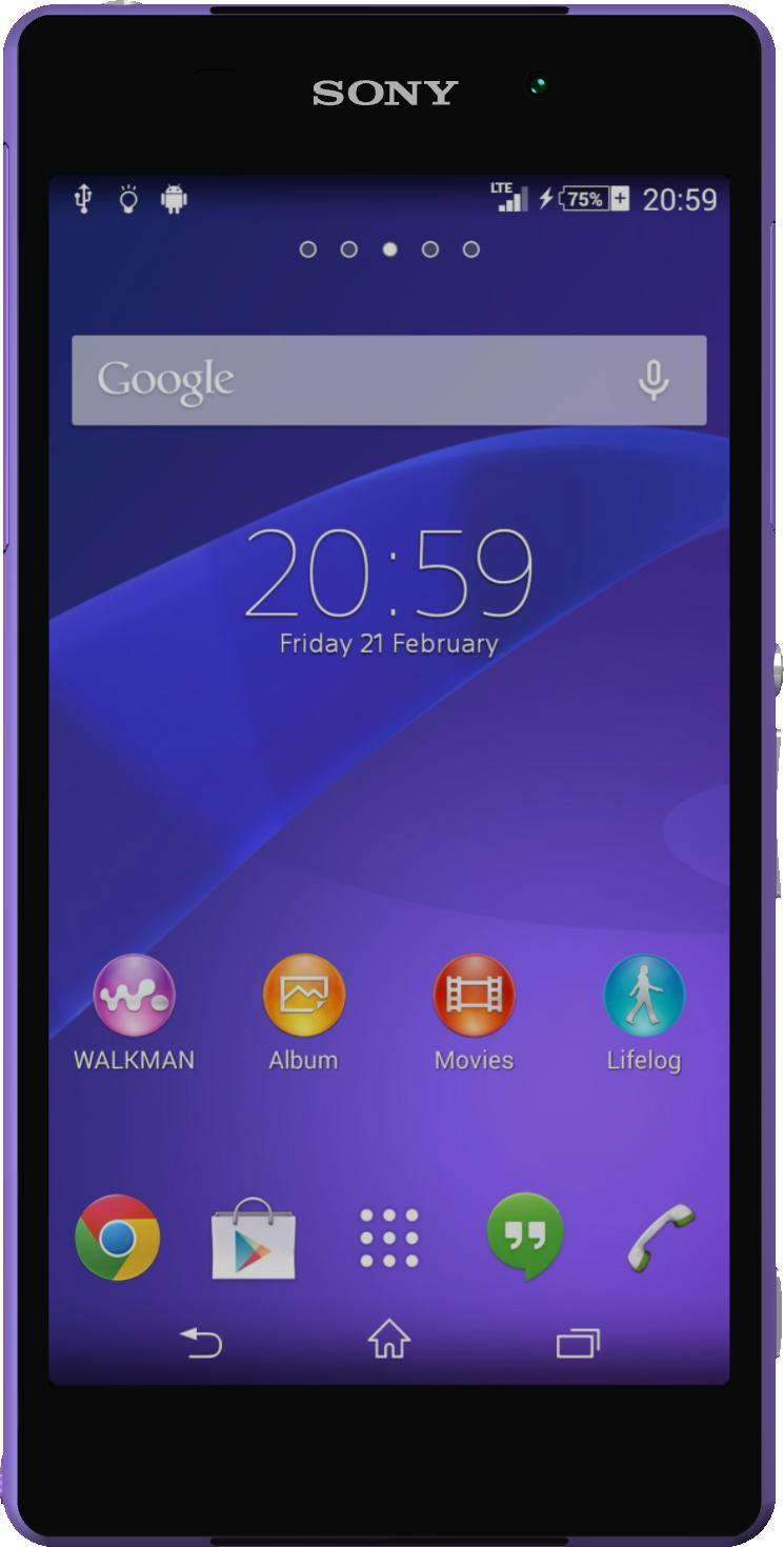 Sony Xperia Z2 Purple