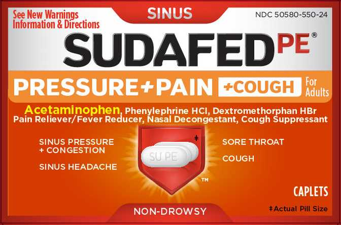 Sudafed PE Pressure Pain and Cough