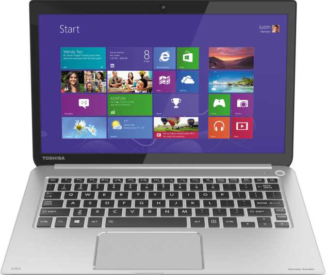 "Toshiba Kirabook 13 i7s Touch 13.3"" Intel Core i7-4500U 1.8GHz / 8GB / 256GB"