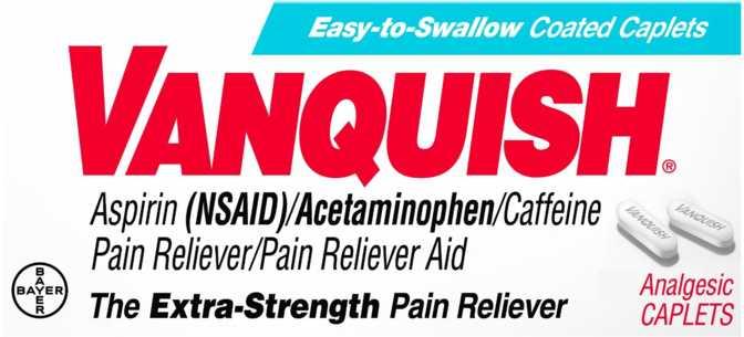 Vanquish Extra Strength Caplets