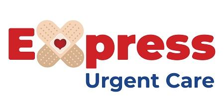 Express urgent care logo color white bg 15