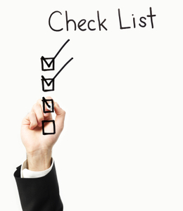 Checklist trainee programs