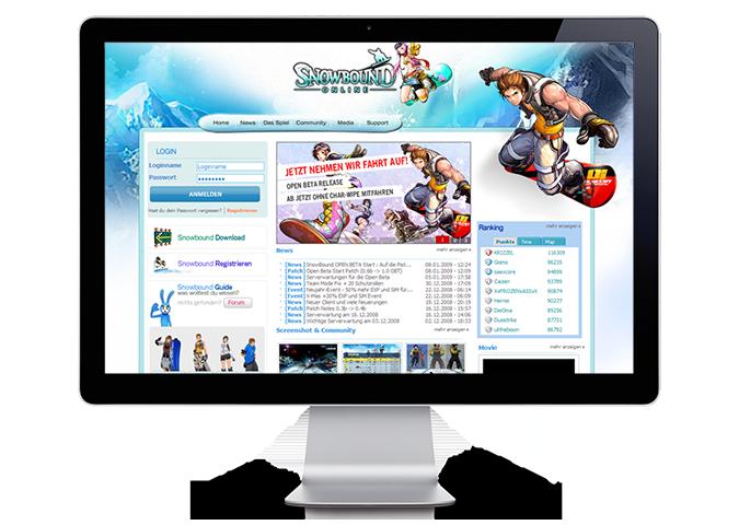 Snowbound Online > Webdesign