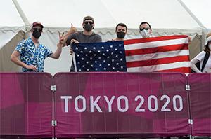 Fans cheer on Team USA. Photo: Casey Gibson