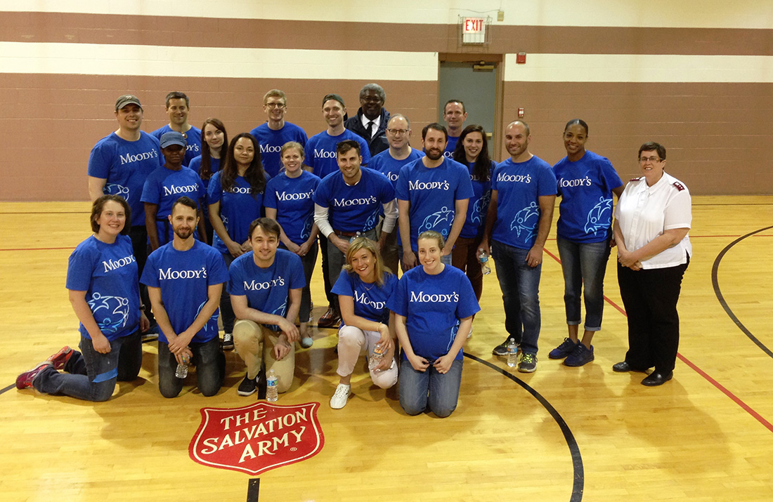 Employees from Moody's spent the afternoon volunteering at The Salvation Army Chicago Temple Corps Community Center.