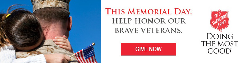 This Memorial Day, help honor our brave Veterans... Give now!