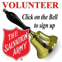 Salvation Army Volunteer Bell Ringer