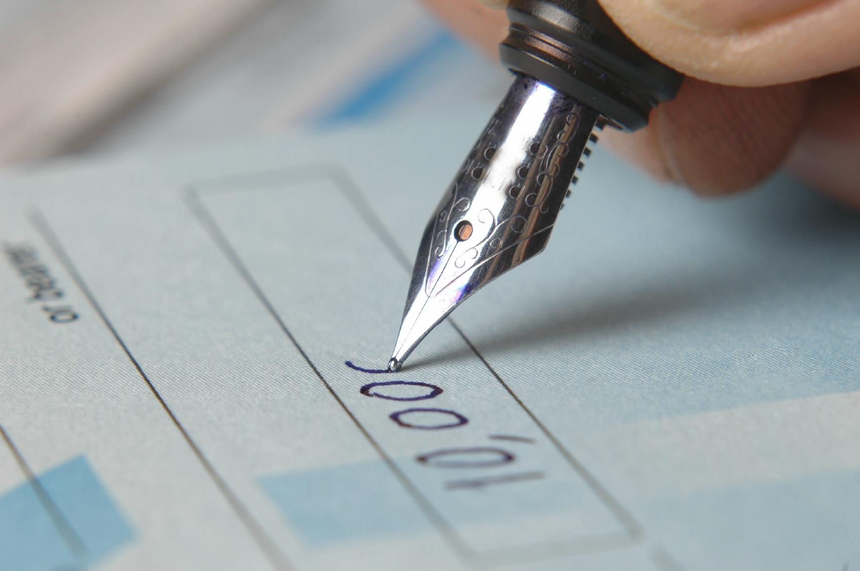 how to write checks
