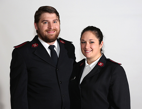 The Salvation Army officers for Maplewood, Lts. Michael and Erin Metzler