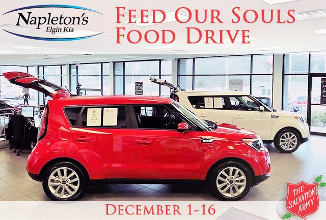 Napleton Kia Elgin >> Feed Our Souls Food Drive Elgin Salvation Army