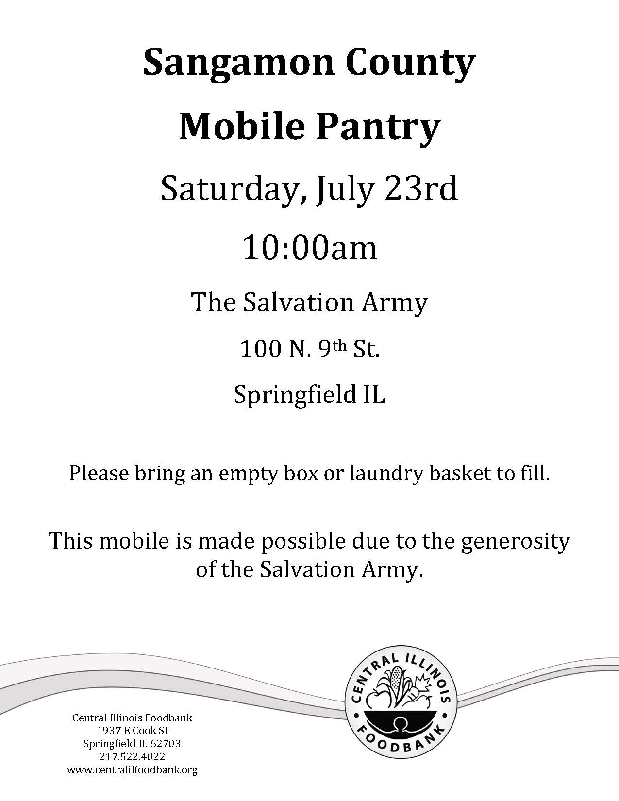Sangamon County Mobile Food Pantry