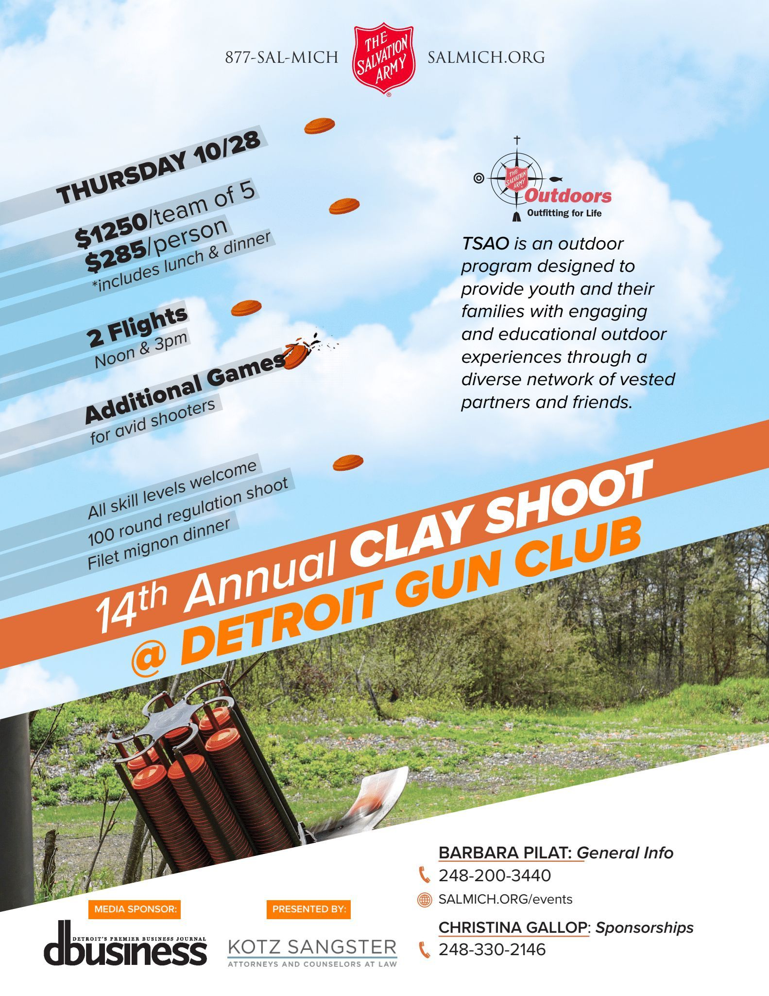 14th Annual Clay Shoot Image
