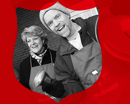 Volunteer to ring a bell at a red kettle for The Salvation Army