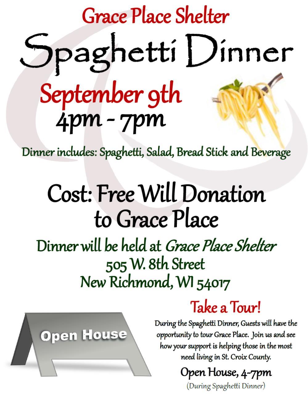 Spaghetti Dinner 2016 Grace Place